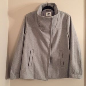 Old Navy light grey wool coat NEW xl